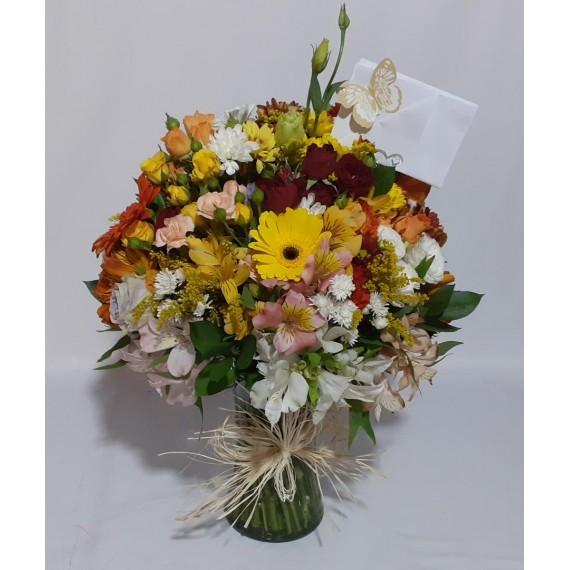 Arranjo Mediano Sorriso das Flores Super Luxo