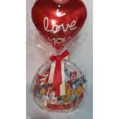 Cesta  Cafe com Chocolate e Balão Eu Te Amo
